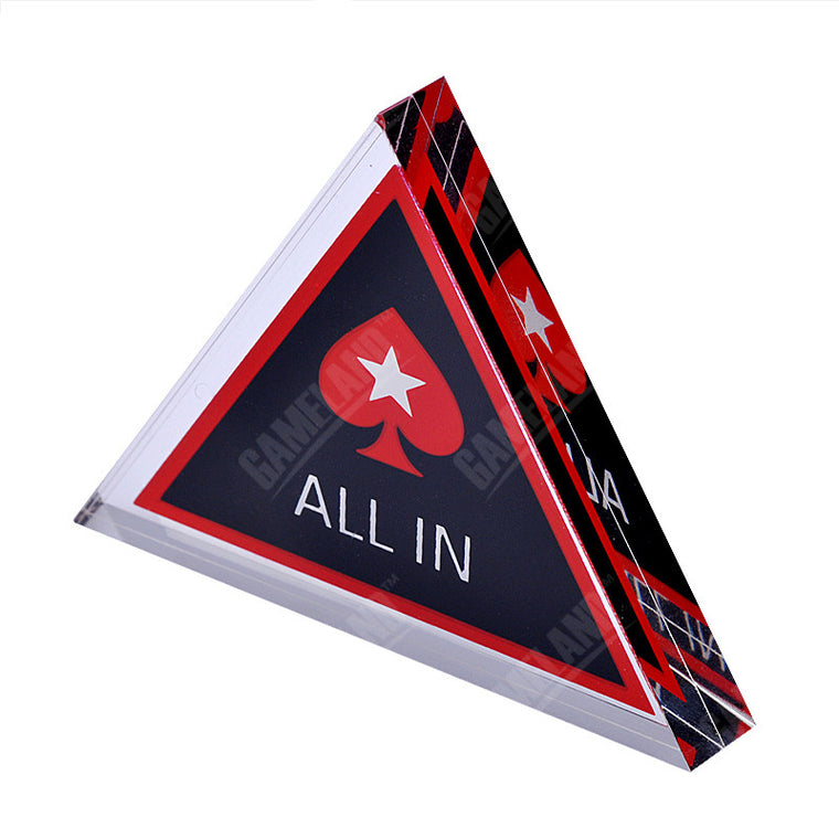 7cm Triangle ALL IN Casino Acrylic Pokerstars Button Pressing Poker Cards Poker Chips The More The Cheaper!