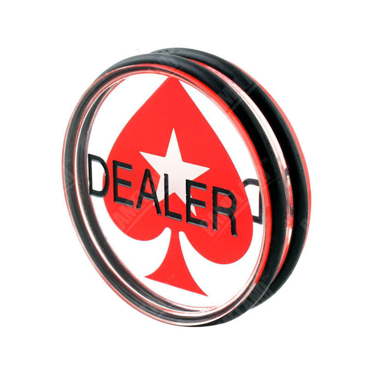 Big Poker Dealer 7.5cm Large Acrylic Pokerstars Dealer Button Pressing Poker Cards Poker Chips Guard Chuang Card