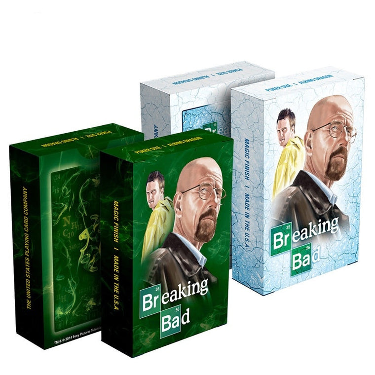 Hot America TV show Breaking Bad poker card set paper playing cards deck embossed surface Mr White novelty present