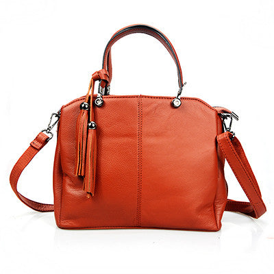 Vintage  genuine Leather Women Handbag 4 Color Zipper Basket High Capacity Elegant Female Bags Women Shoulder Bag Bolsa Feminina