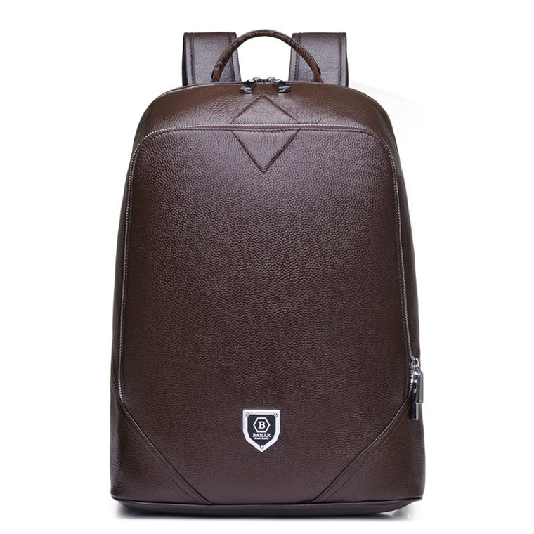 Brand High Quality Genuine Leather Men Fashion Backpack Vintage School Bag Backpack for Teenagers