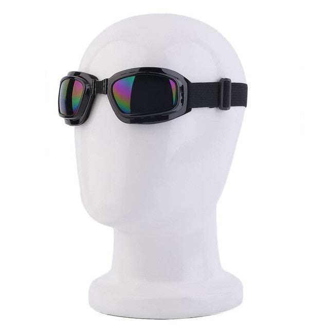 Unisex Safety Goggles Foldable Colorful Anti Glare Polarized Windproof Goggles Anti Fog Sun Protective Adjustable Strap Glasses Safety Goggles