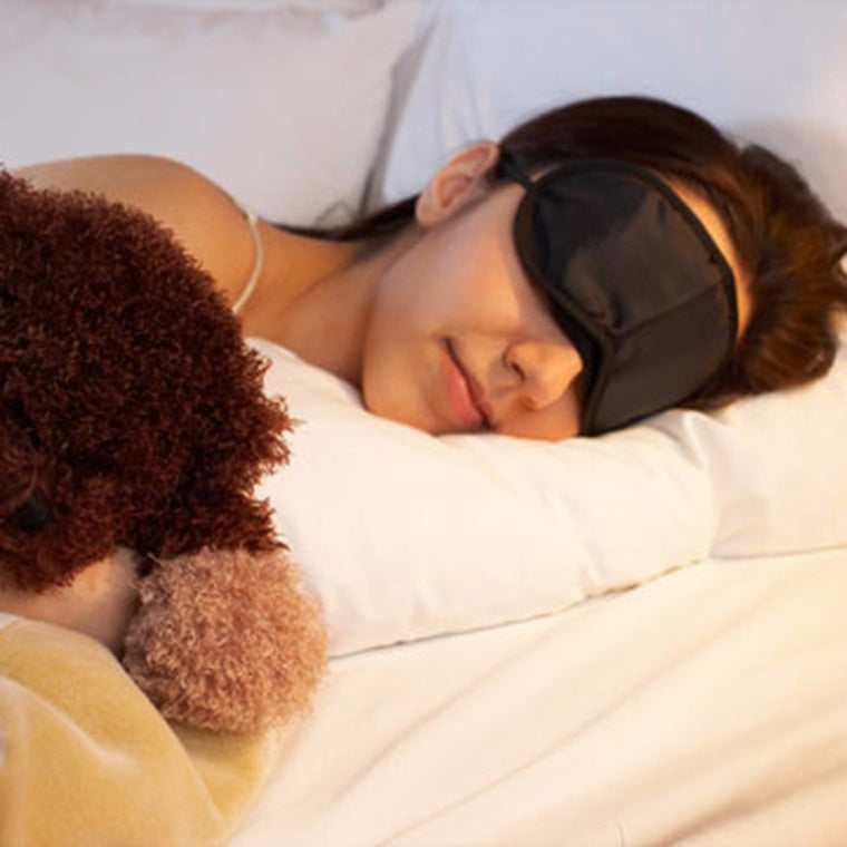 1pc Sleeping Eye Mask Blindfold Travel Sleep Aid Cover Light Guide Black Free Shipping