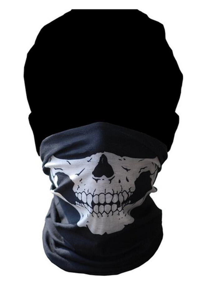Motorcycle Riding Face Mask Skull Cycling Mask Outdoor Sports Bandanas Scarves Wicking Seamless Cycling Neck Tube Kerchief Scarf