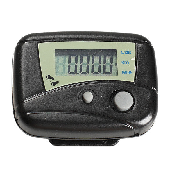 Black/White Digital LCD Mini Clip-on Step Movement Calories Counter Multi-Function Digital Pedometer
