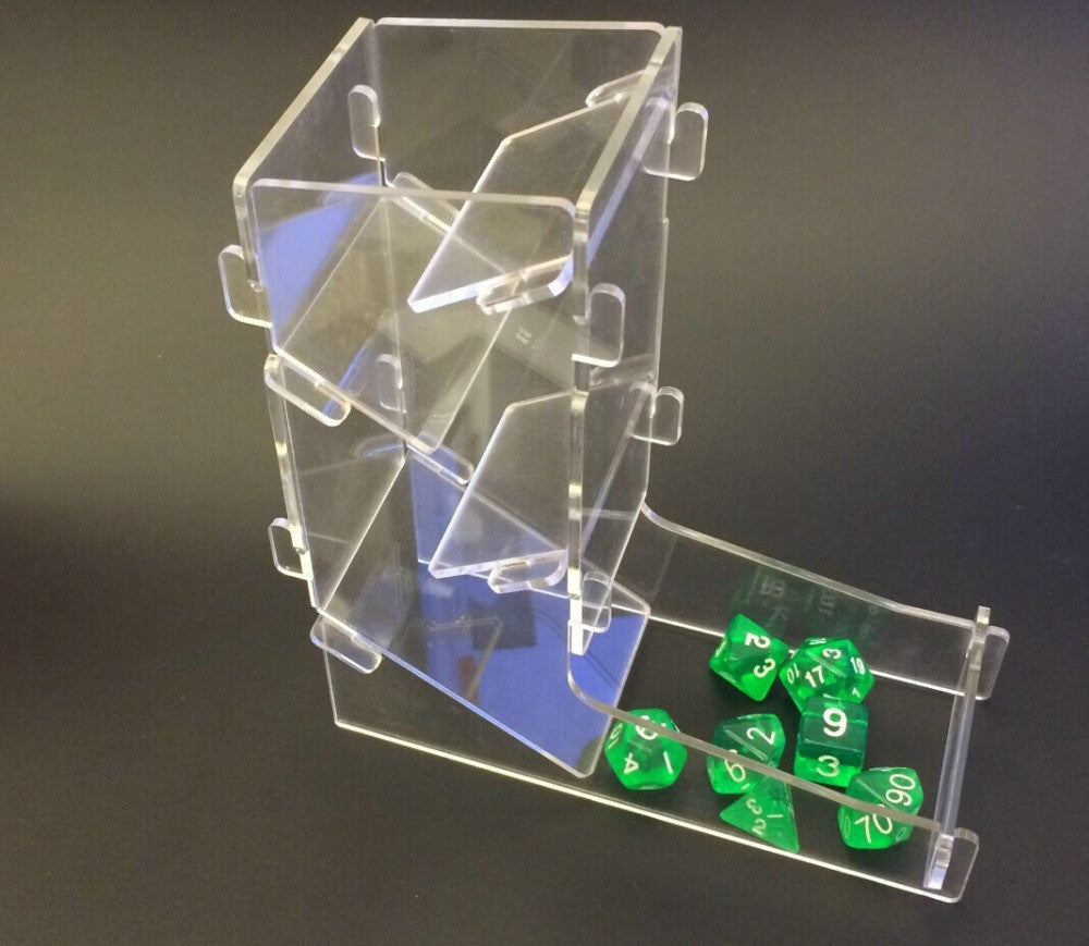 Dice DND Dice Tower Run Mission Artifacts Import Material Sieve Sub Creative Manila Thrown Dice Top with Plastic Films