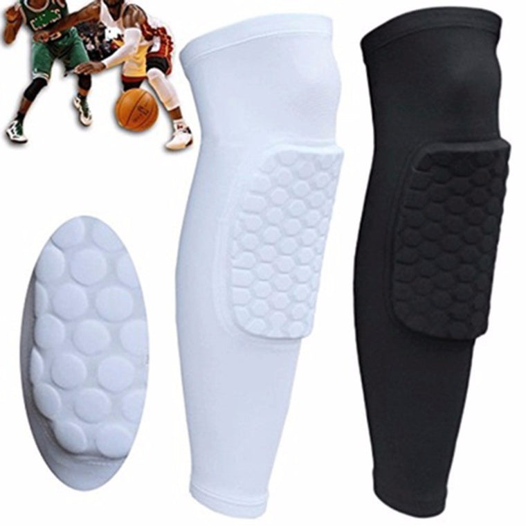 Ultralight elastic breathable football basketball volleyball knee pads Leg Long Sleeve Protector Sport Safety Calf Kneepad