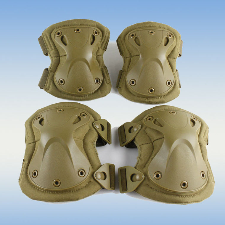High quality Military Tactical paintball protection , knee pads & elbow pads set  Airsoft Hunting Equipment