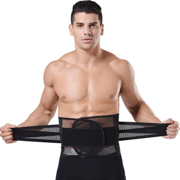 New Men Belly Waist Shaper Belt Abdomen Tummy Trimmer Cincher Girdle Burn Fat Top Quality