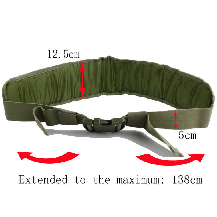Tactical Molle Padded Molle Waist Belt Airsoft Combat Waist Support
