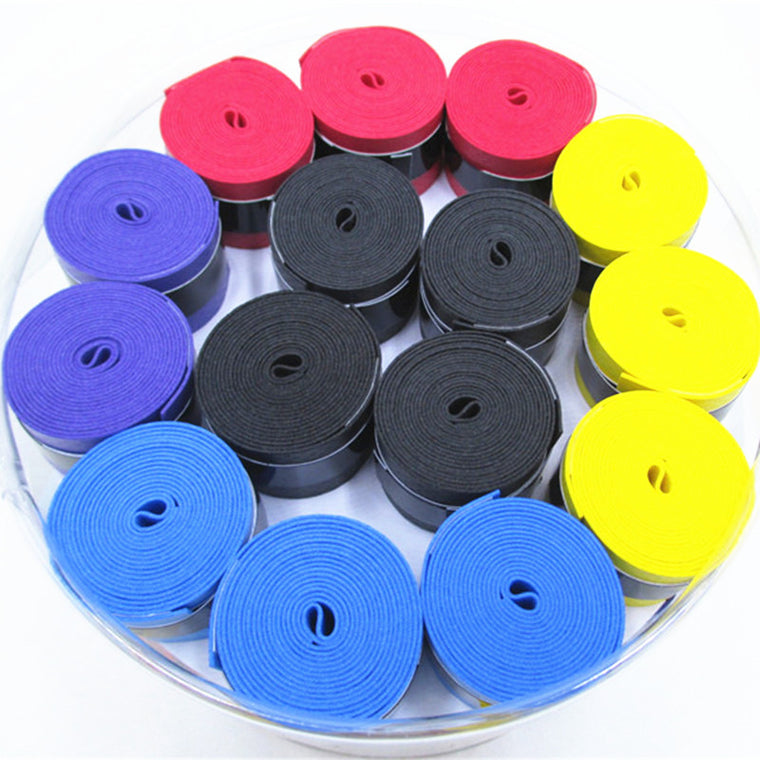 60PCS/lot Badminton Racket Overgrips Dry Anti-skid Sweat Absorbed Wraps Taps Tennis Grips Racquet Vibration Overgrip Sweatband