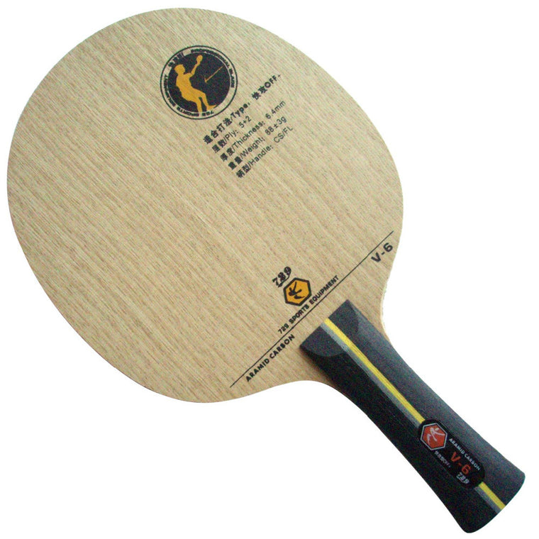 RITC 729 Friendship V-6 (V6, V 6) ARAMID Carbon OFF+ Table Tennis Blade for PingPong Racket The new listing BestControl