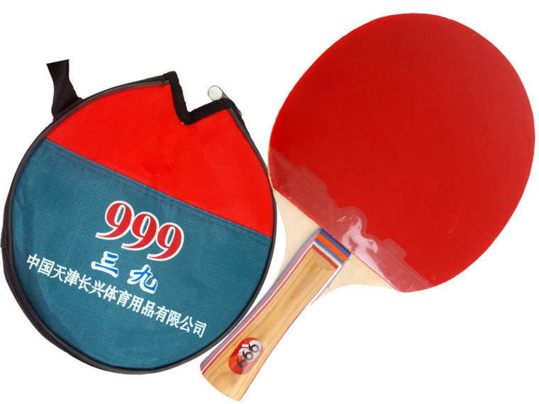 999-A Pips-In Table Tennis Racket for only beginners with Case for Ping Pong Long Shakehand-FL