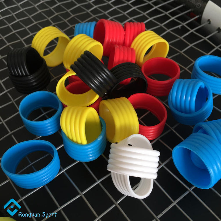 10 pcs/lot-Various colors Brand Powerti New oem custom silicone tennis racket grip ring accessories