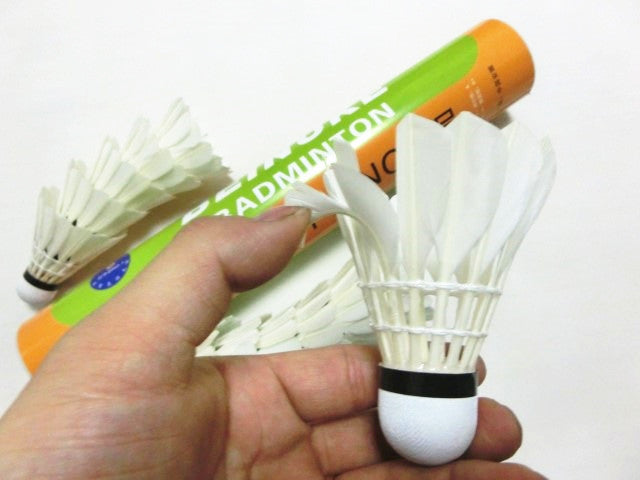 Top Training shuttlecock Extremely Durable Badminton Shuttlecocks 3tubes/lot Goose Feather Birdie Speed 74-79 Available L167