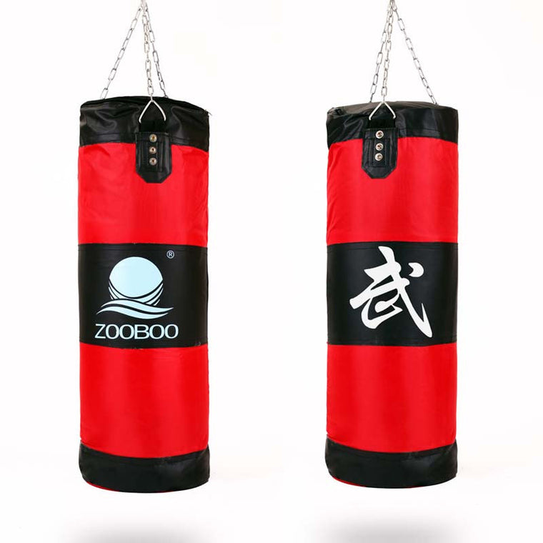 60/80/100 cm Boxing Bag Red Green Fight Training Sandbag Kids And Adult Karate TKD MMA Martial Arts Sanda Punch Bags saco boxeo