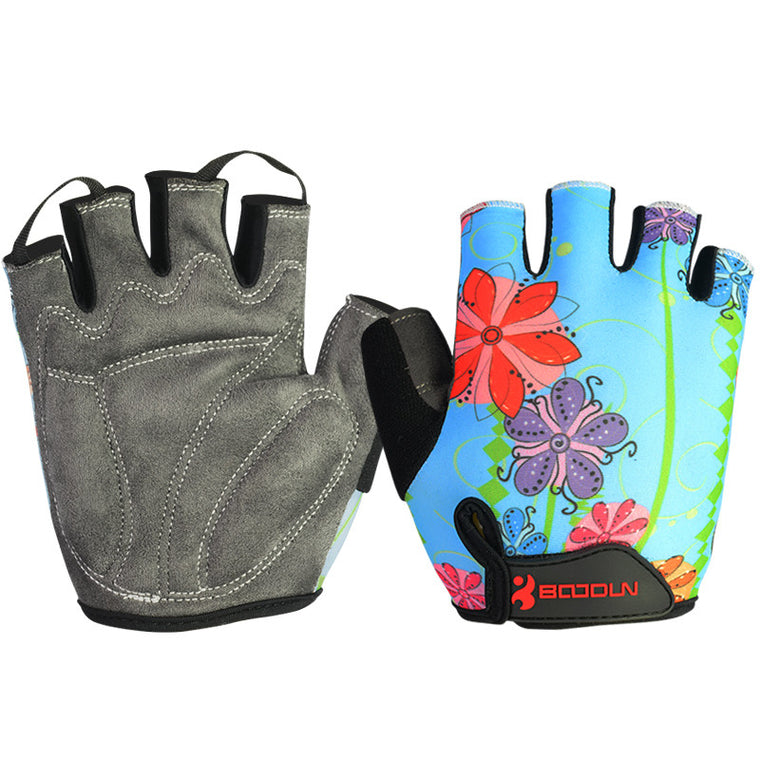 Fitness Gloves Breathable Outdoor Mountain Bike Special Gloves Sport Gloves for chindren Flower color