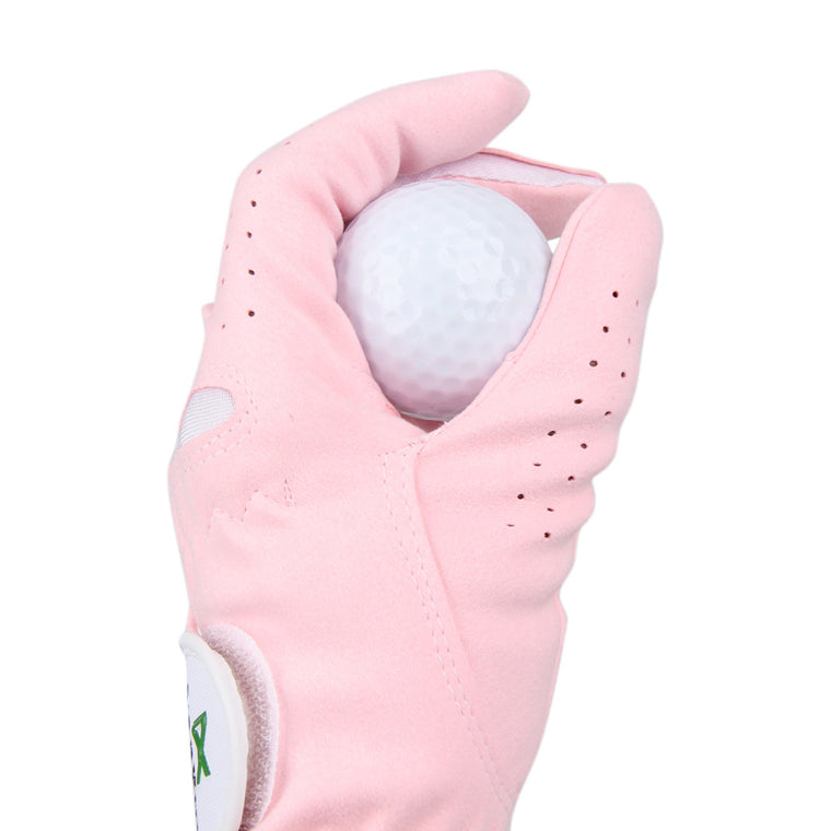 Golf 1 Pair Golf Gloves Women Breathable Left and Right Golf Glove Hand Super Fine Cloth Soft Pink Color Top Quality ISP