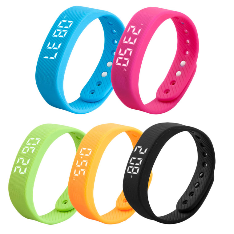 3D T5 LED Display Sports Gauge Fitness Bracelet Smart Step Tracker Pedometer