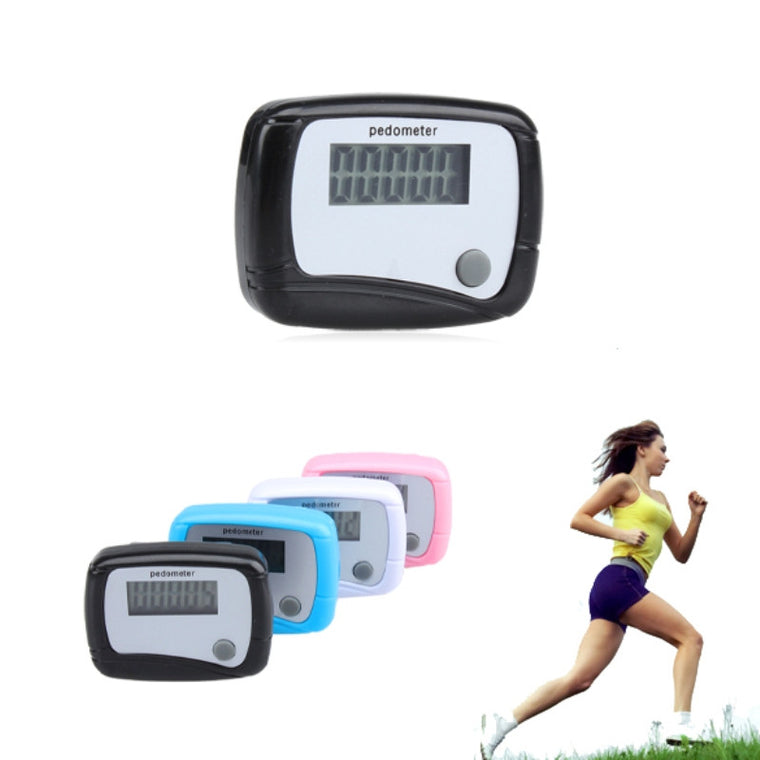 LCD Pedometer Run Walk Walking Calorie Counter Step Counter Light Weight Plastic Fitness Running Pedometer with Hanging Clip