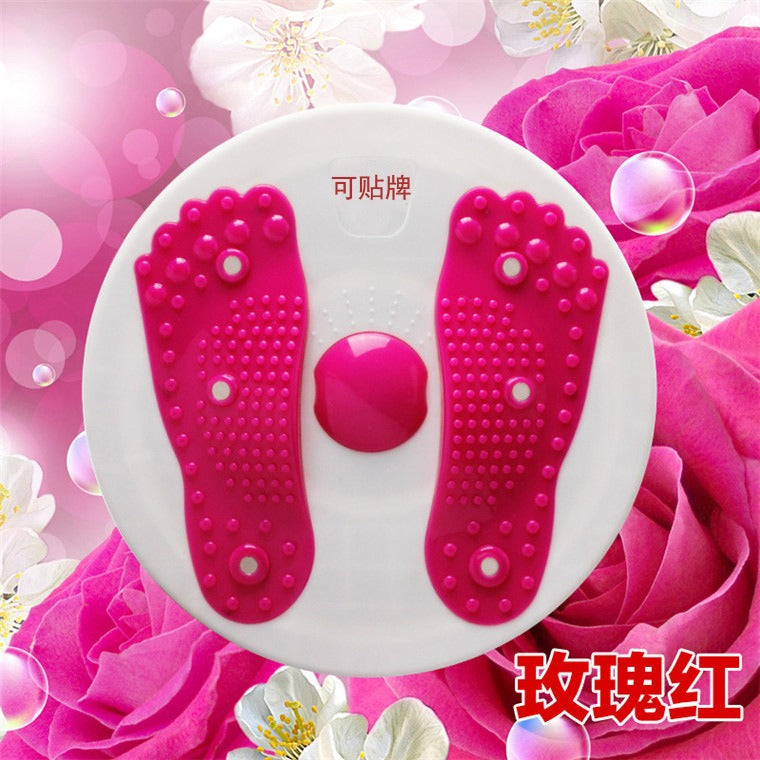 Fitness Massage Twister Plate Magnet Waist Wriggling Waist Twisting Disk Twist Board Women's Home Fitness Sports Machine