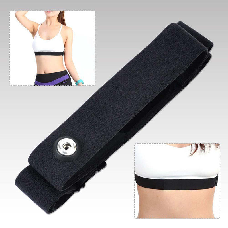 High Quality Black Elastic Chest Belt Strap Band for Wahoo Garmin Polar Sport Running Heart Rate Monitor for Bluetooth 4 0