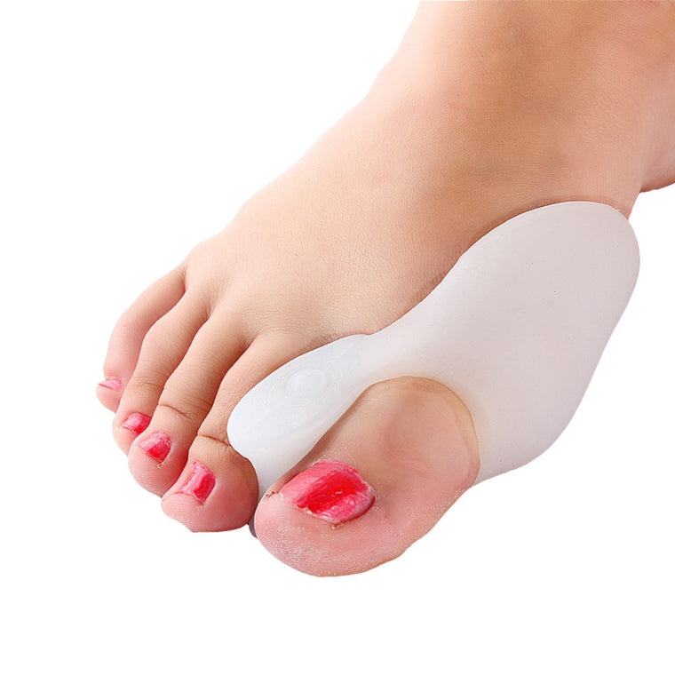 Hot Top Cheap Sale! Silicone Gel Big Toe Separators Protector Straightener Bunion Corrector 2 Pcs/Lot White Color