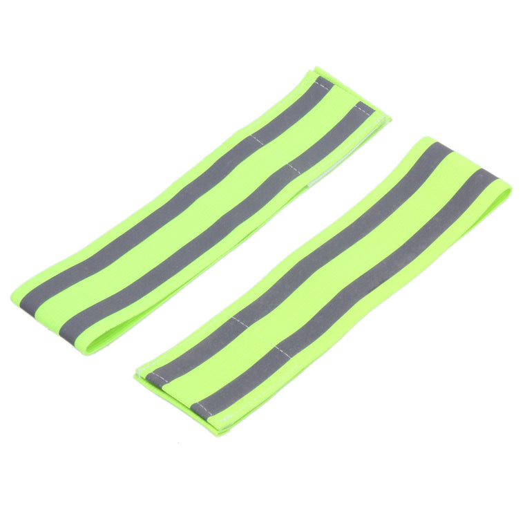 2pcs Adult Safety Reflective Sport Leg Belt Strap Snap Wrap Warmer Reflective band for Walking Running Jogging Sports at Night