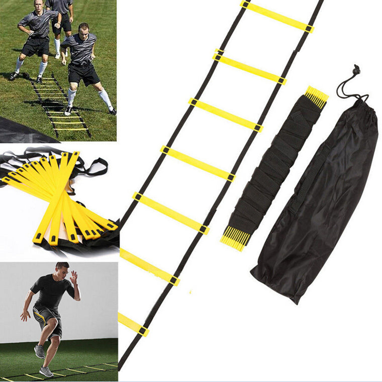 New Durable Outdoor Speed Reaction Football Soccer Fitness Feet Training Ladder 6-Rung Soccer Agility Train Ladder