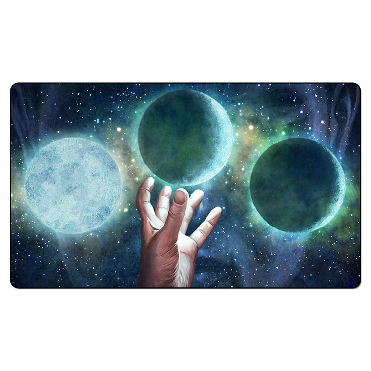 (Ponder) Magic Board Games MTG Playmat Gathering The Cards Game Play Mat 35x60cm With Free Playmat Bag
