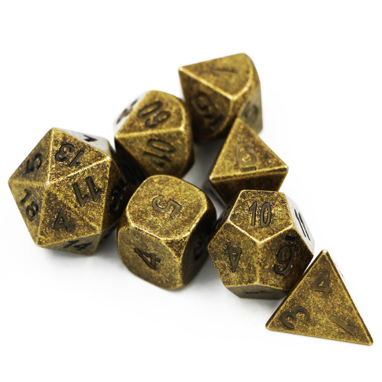Dungeons & Dragons 7pcs/set Creative RPG Game Dice D&D Metal Dice DND Different Bronze Color