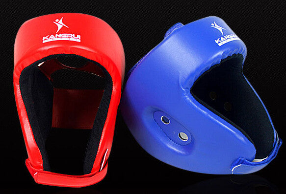 KangRui Durable adjustable boxing Taekwondo head guard pad protection protector Sparring helmet Muaythai muay Sanshou 1 pcs