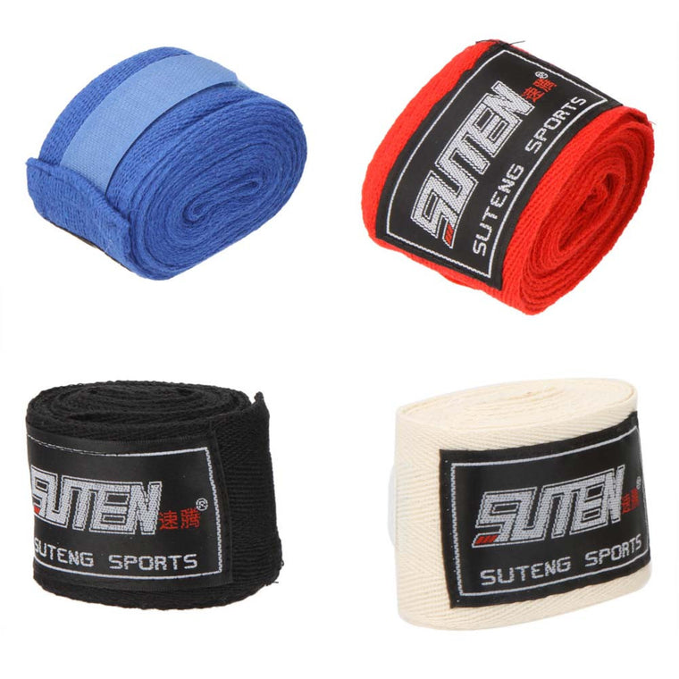 2pcs/ roll Boxing Glove Cotton Sports Strap Boxing Bandage Sanda Muay Thai MMA Taekwondo Hand Gloves Wraps Protection Men