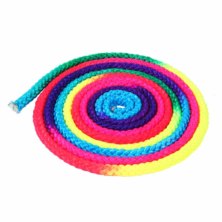 Rainbow Color Training Gymnastics Sports Arts Rope Nylon Body Building Fitness Special Gym Solid Competition Gymnastics Rope