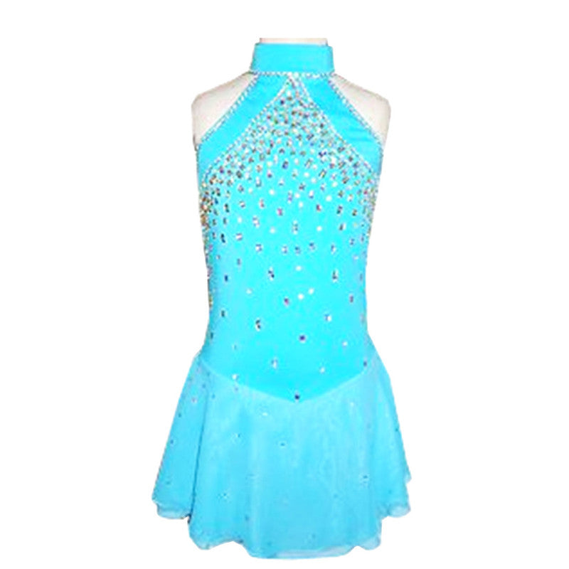 15 Colors Customized Costume Ice Skating Figure Skating Dress Gymnastics Adult Child Girl Show Skirt Performance Competition