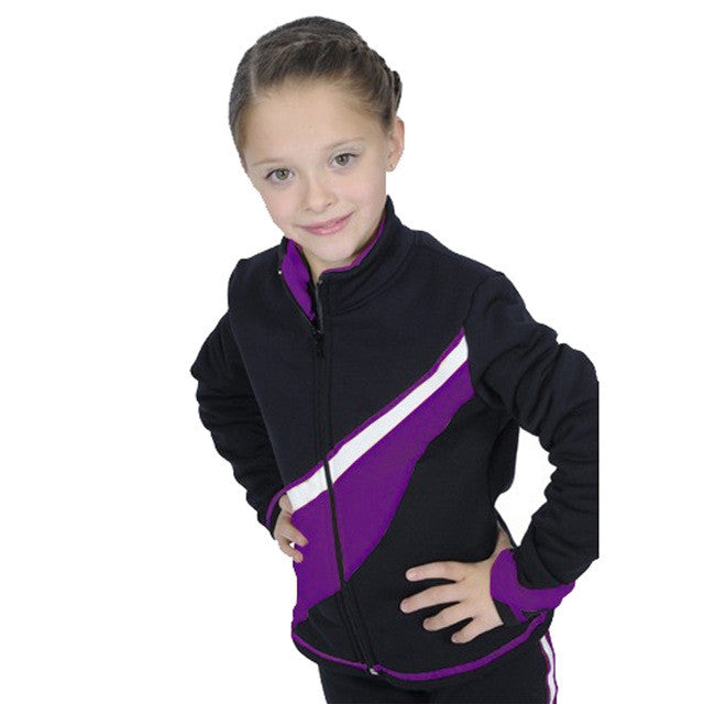 Costume Customized Ice Figure Skating Tops Jacket Gymnastics Long Sleeve Warm Fleece Fabric Adult Child Stand Collar 18 Colors