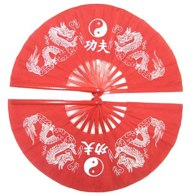Kung fu fan tai chi double fan  taichi fan bamboo fan right and left one pair