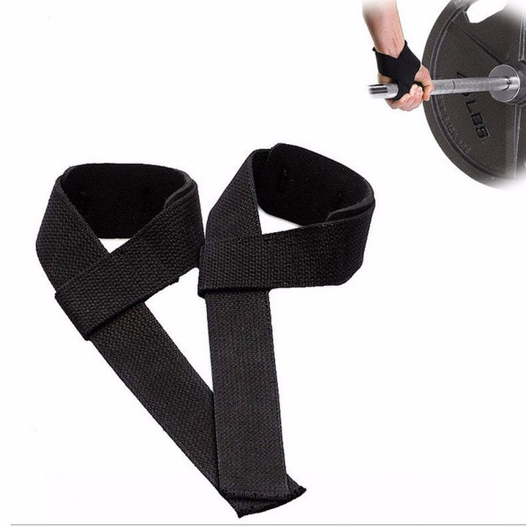 1 Pair Weight Lifting Hand Wrist Bar Support Strap Brace Support Gym Straps Belt Body Building Grip Glove