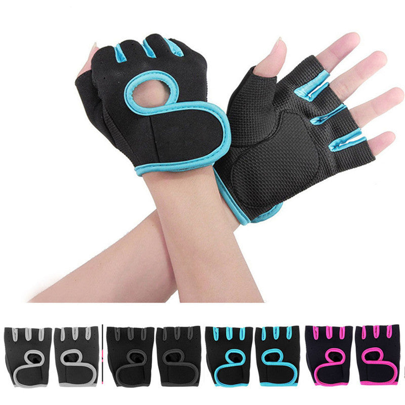 New Lady Weight Lifting Gloves NEOPRENE Gym Training Body Building Fitness Straps 1Pair