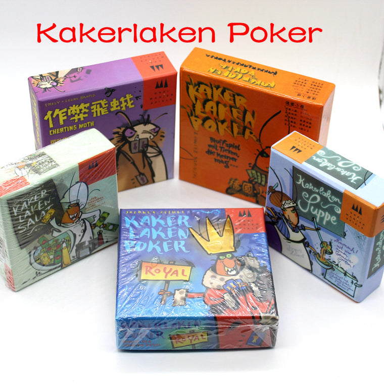 5 Options Funny Cards Game Kakerlaken Salat/Poker/Royal/Suppe/Mogel Motte Board Game Family Party Cockroach  Indoor Game