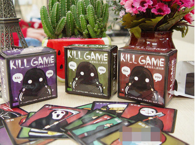 1 Pcs Chinese Version Funny Mini Party Game KILL GAME Board Game Party Cards Englsih Rule Send by email GYH