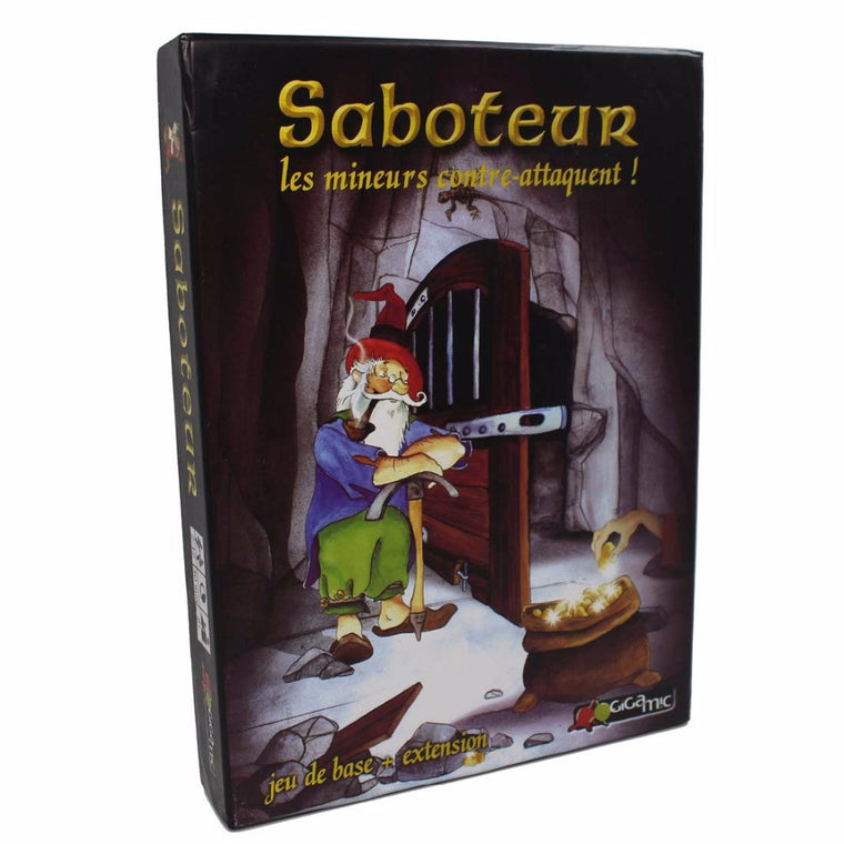 Saboteur 1+2 version English Card game
