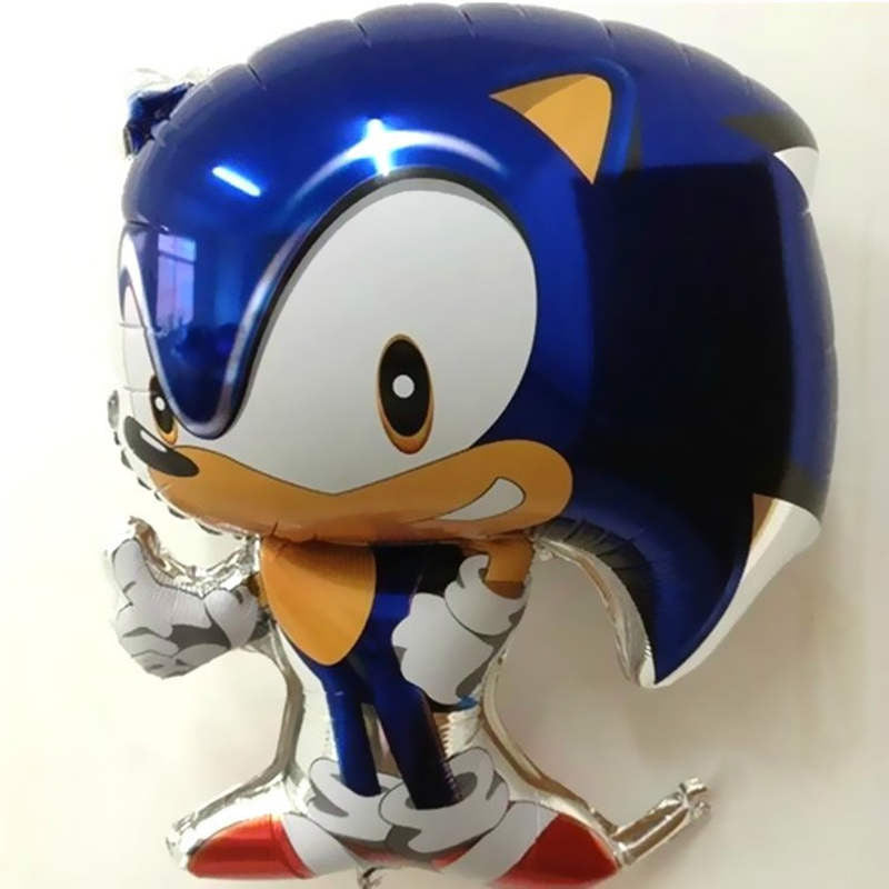 1pc Classic Toys Inflatable Sonic Balloons Party Decorations Mylar Balloons Cartoon Character Helium Balloons
