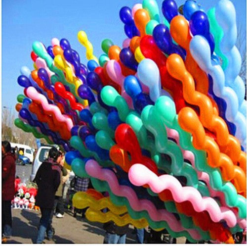 30 pcs/lot hot sell Multicolor Twist piral Latex Balloons Wedding Kids Birthday Party Decor Toy GIFT Christmas