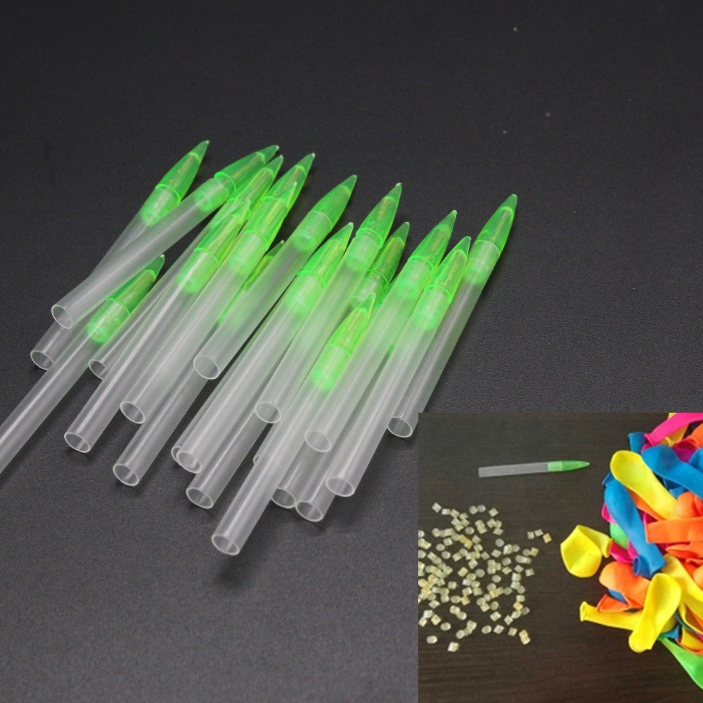 100pcs a set  refill tool for Water Balloons Refill rubbers Tool Water Kids Summer Outdoor Fun toy