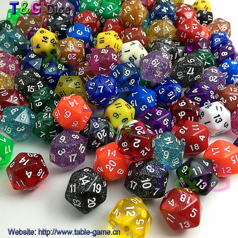 Complete Set of  10 Twenty Side D20 Dice Extreme Dice Stacking with Gerry