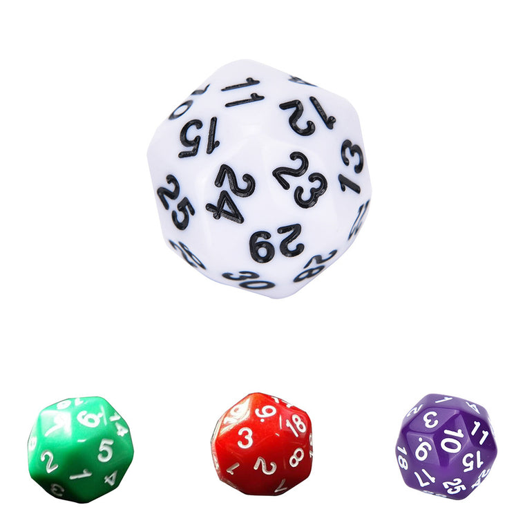1 Pc D30 Dice RPG D&D Six Opaque Colors Multi Resin Polyhedral For Sides Dice Pop for Game
