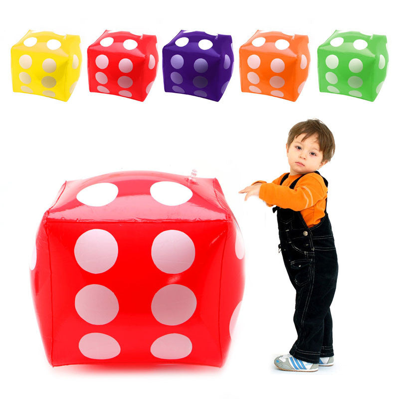 30cm Inflatable Multi Color Blow-Up Cube PVC Dice Toy Stage Prop Group Game Tool
