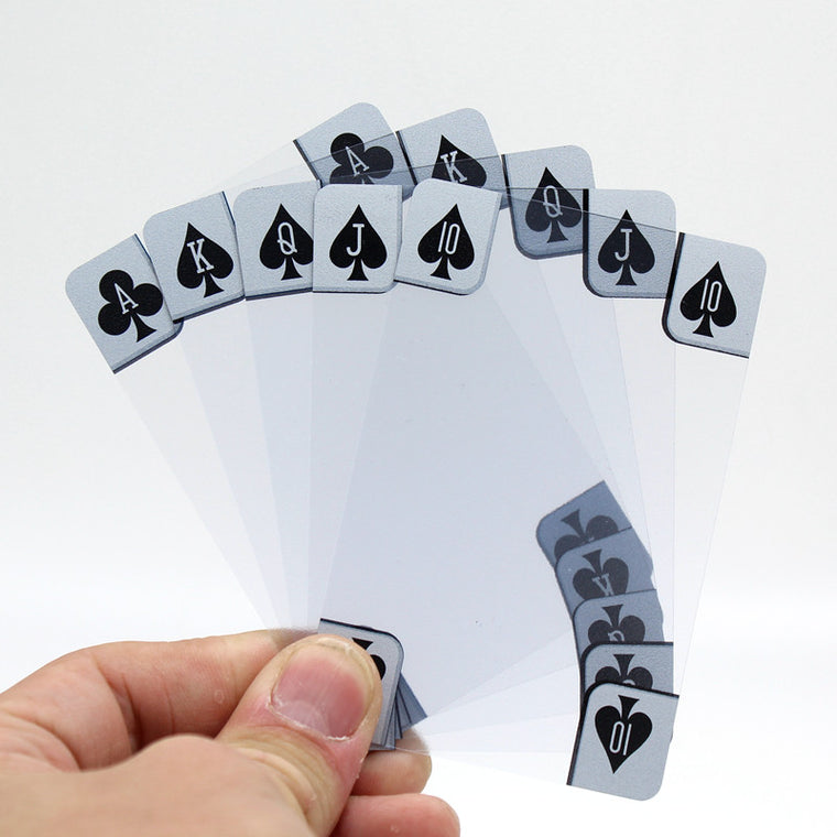 Transparent Clear Plastic PVC Poker Waterproof  Playing Cards Novelty Collection Cards  Gift Durable Texas Hold'Em Pokers