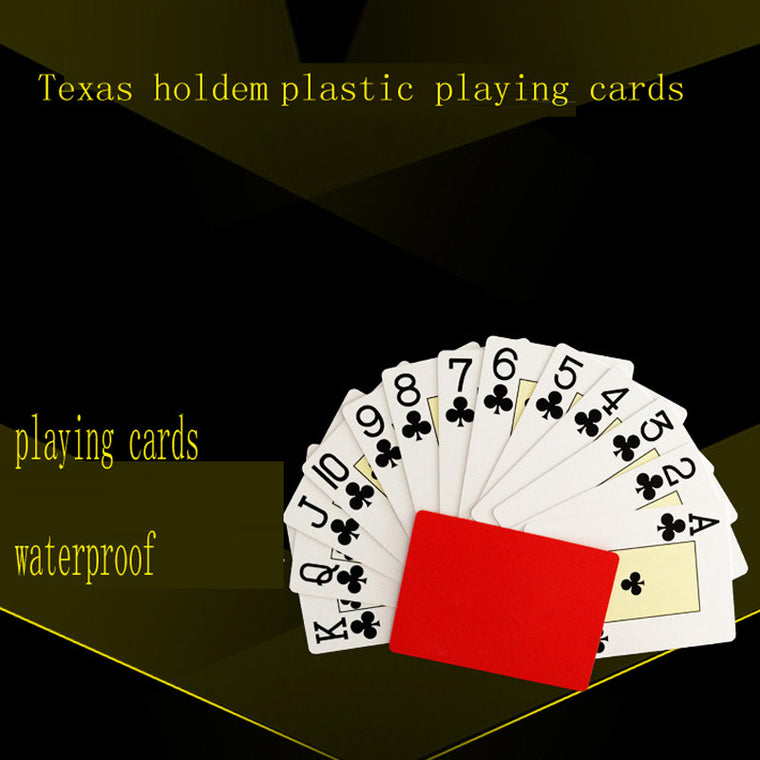 PVC Waterproof Playing Poker 2 Sets Plastic Playing Cards Blue Red Poker Cards Texas Holdem Playing Cards Pokerstars Cards Games